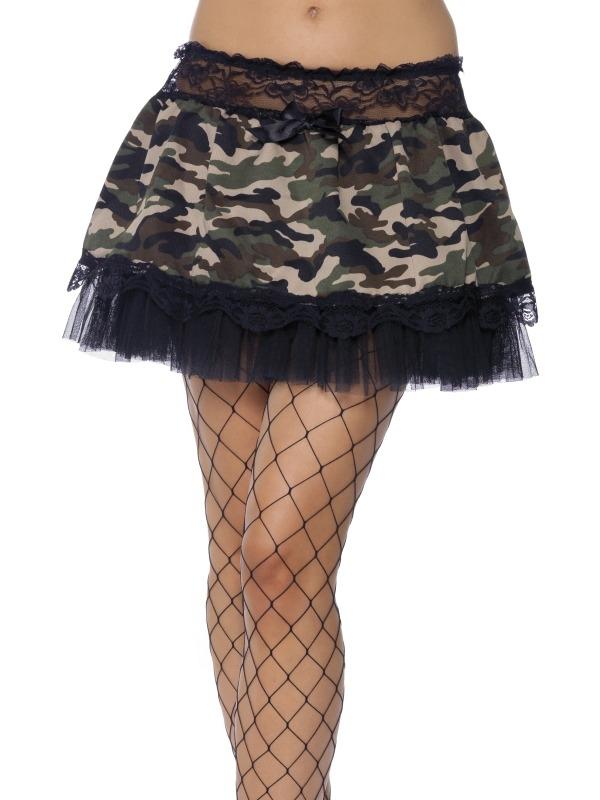 Camouflage Kleuren Onderrok Tutu