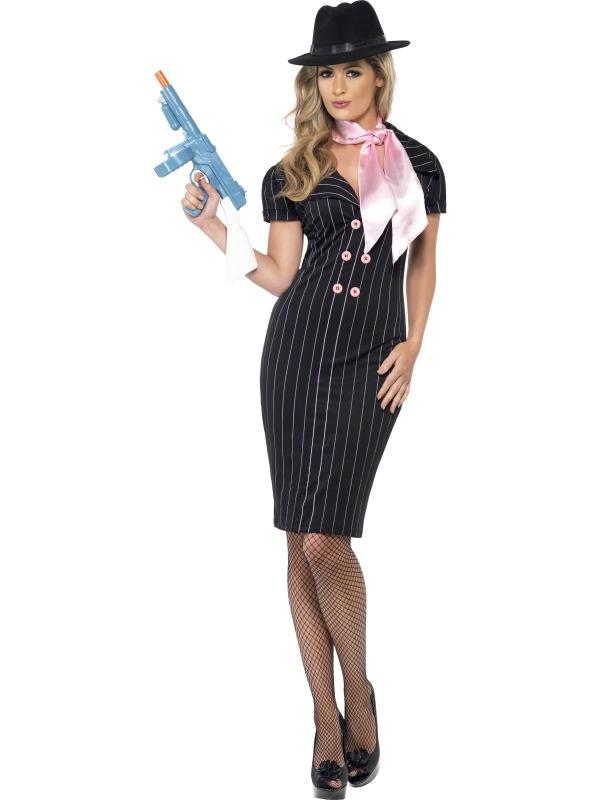 Gangster's Moll Dames Kostuum