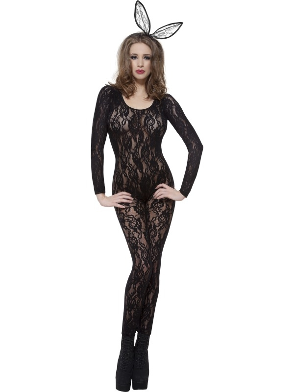 Body Stocking Zwart Kant 1 maat