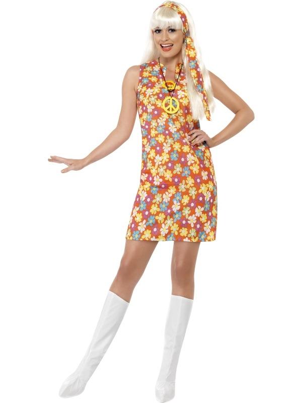 Flower Hippie Kleurrijke Bloemen Kostuum