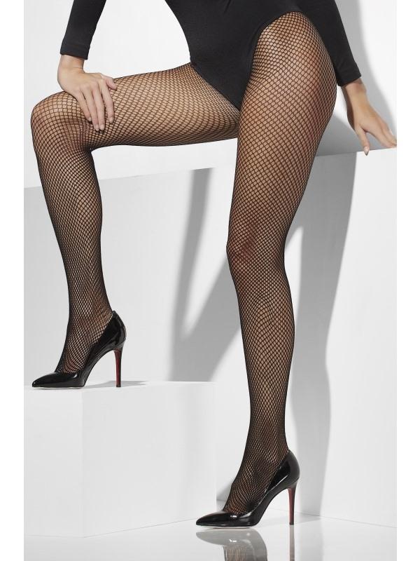 Zwarte Fishnet Panty XL