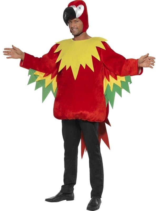 Kleurrijk Papegaaien Heren Verkleedkostuum