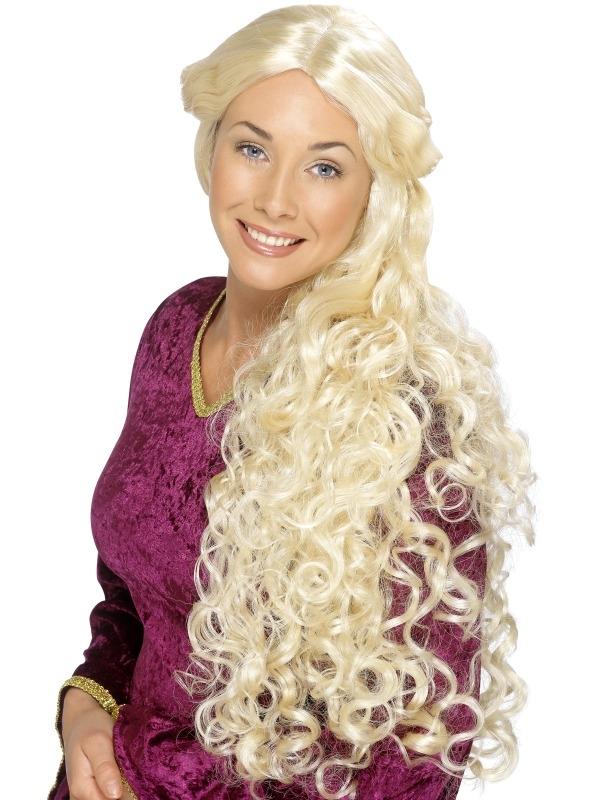 Lange Blonde Renaissance Pruik