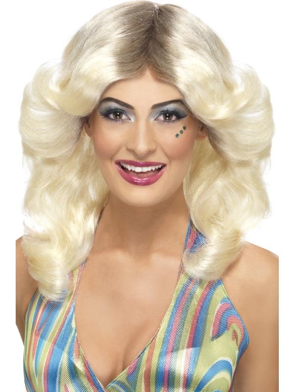 70's Blonde Pruik met Laagjes