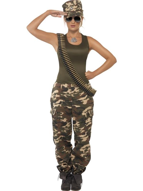 Khaki Camo Camouflage Leger Army Kostuum