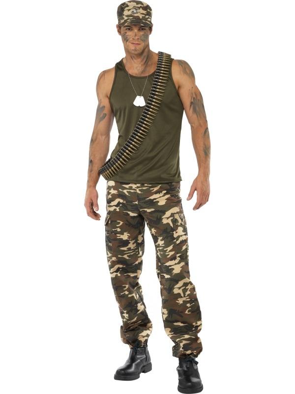 Khaki Camo Camouflage Heren Leger Kostuum