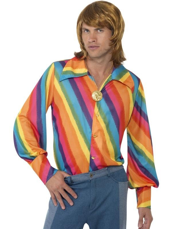 1970s Regenboog Heren Shirt