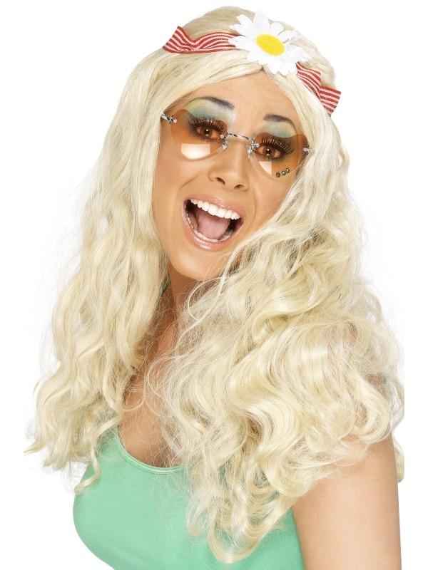 Groovy Hippie Pruik met Haarband
