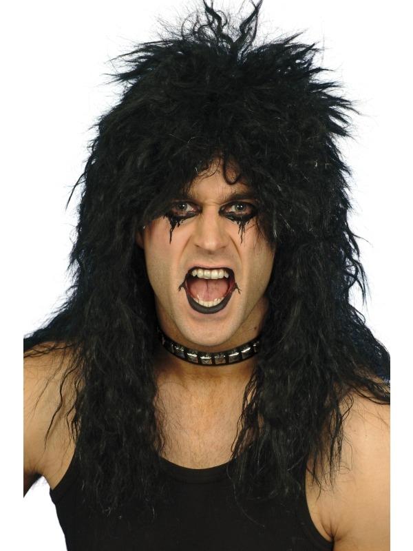 Zwarte Hard Rocker Pruik