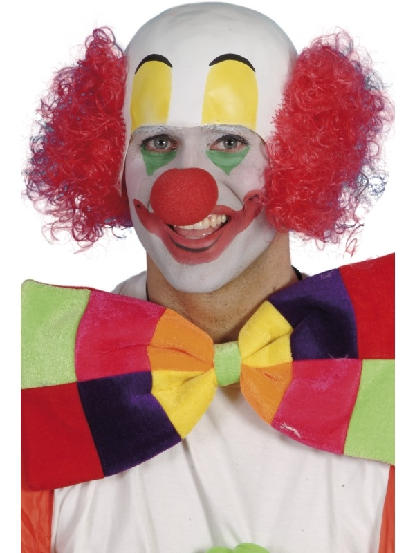 Clown Pruik met Rood