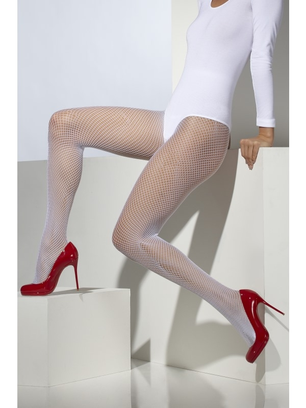 Witte Fishnet Panty