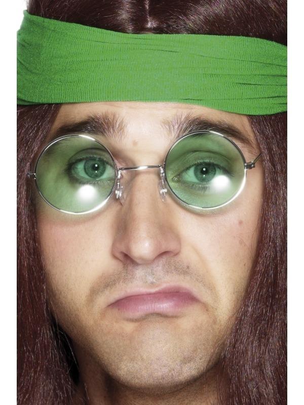 Groene Seventies Hippie Zonnebril