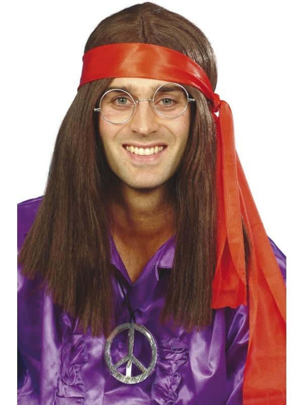 Hippie Heren Verkleedsetje 4- Delig