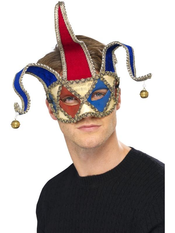Venetian Musical Jester Oogmasker