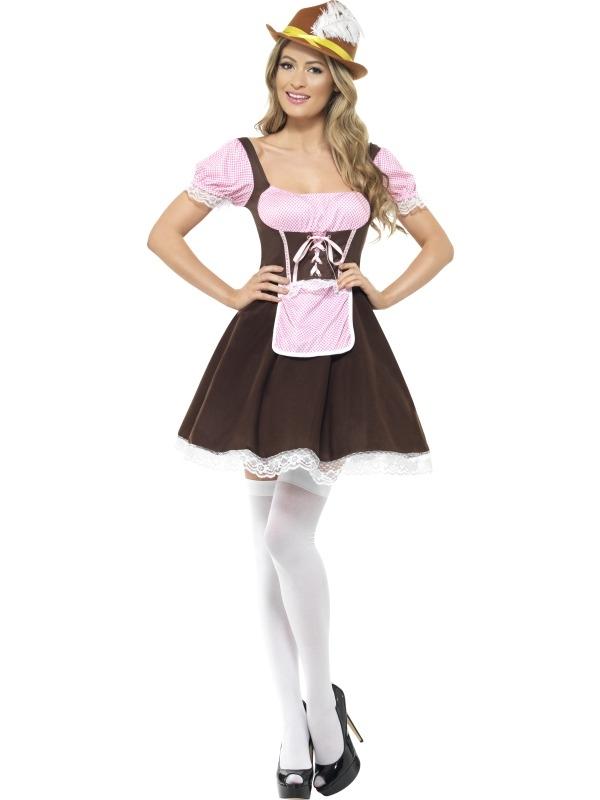 Tavern Girl Oktoberfest Kostuum Kort