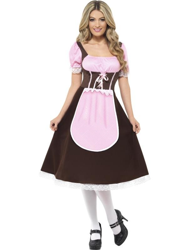 Tavern Girl Oktoberfest Lang Dames Kostuum