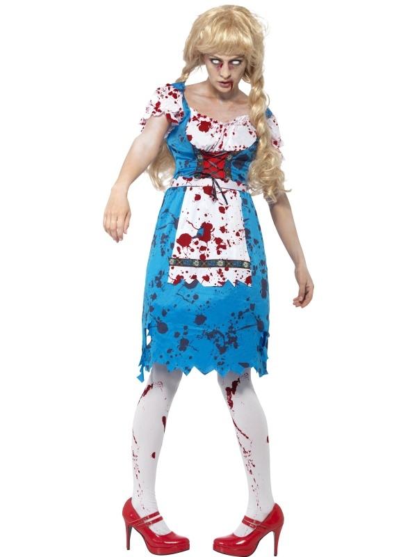 Zombie Bavarian Dames Kostuum