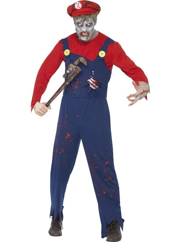 Zombie Plumber Heren Halloween Kostuum