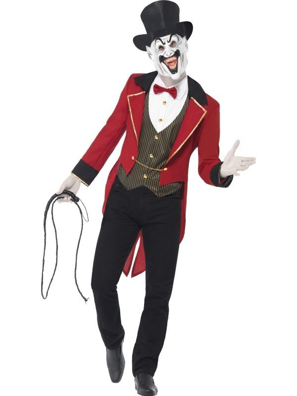 Sinister Ringmaster Kostuum met Hoge Hoed