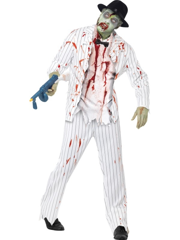 Zombie Gangster Heren Halloween Kostuum