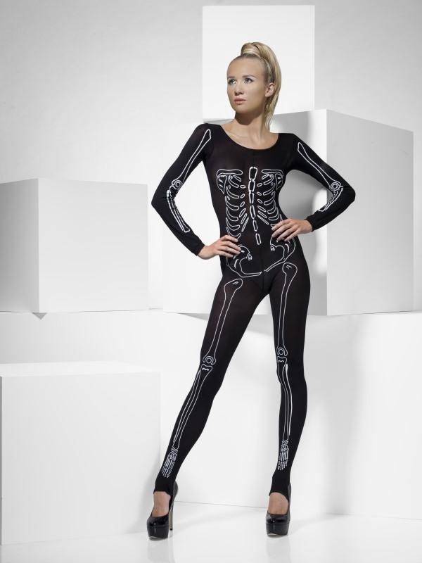 Skeletten Print Bodysuit Halloween Verkleedkleding