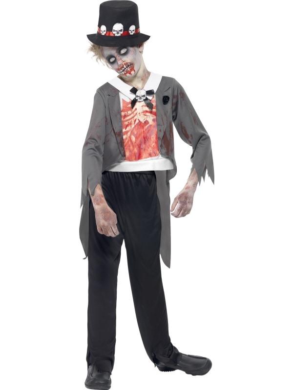 Zombie Groom Bruidegom Jongens Kostuum