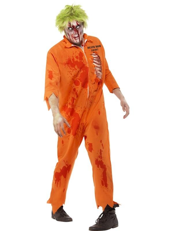 Zombie Death Row Inmate Horror Heren Kostuum