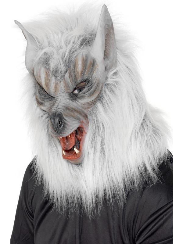 Zilver Weerwolf Halloween Masker