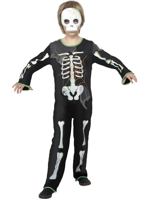 Scary Spider Skeletten Jongens Halloween Kostuum