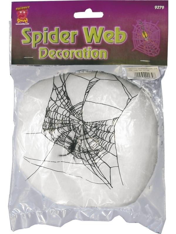 Wit Spinnenweb met Spin Halloween Versiering