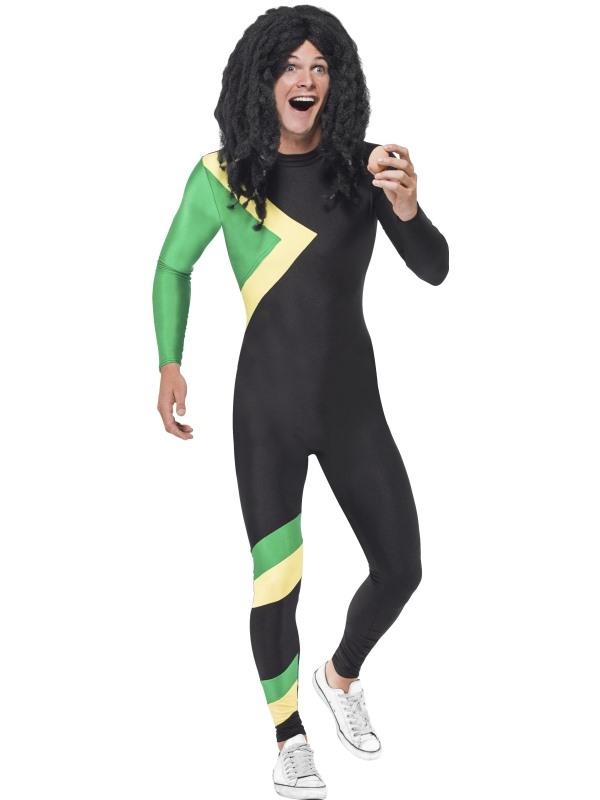 Jamaican Hero Jumpsuit Heren Kostuum