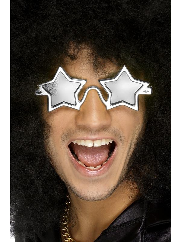 Zilverkleurig Superstar Sterren Zonnebril