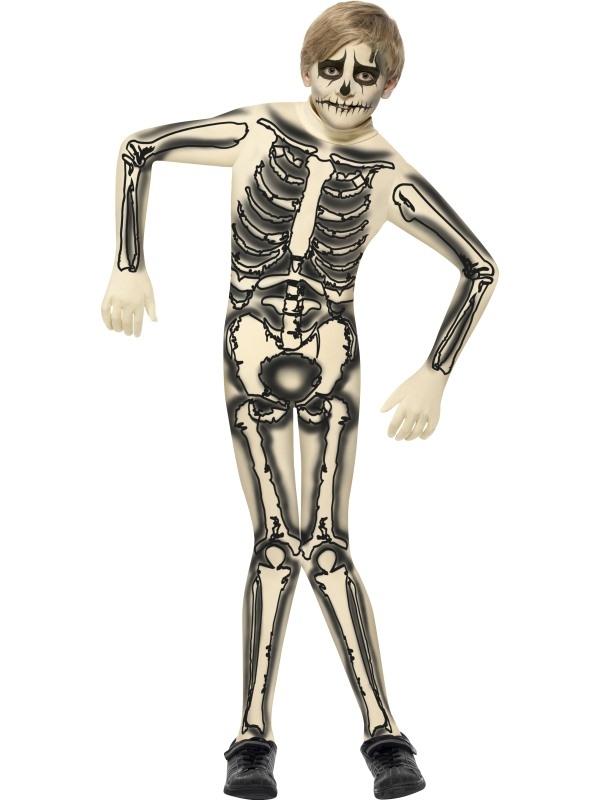 Skeletten Second Skin Jongens Halloween Kostuum