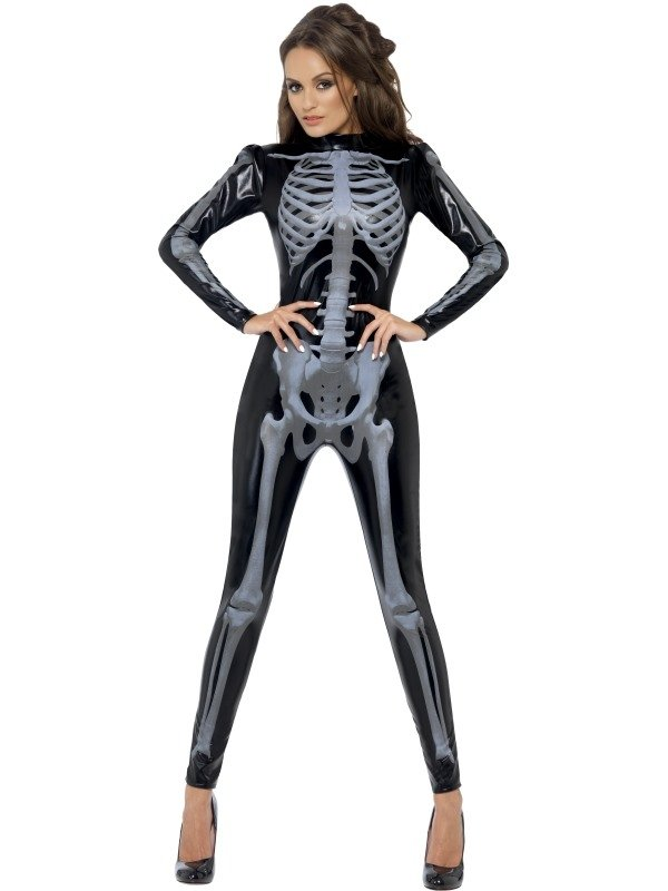 Fever Skeleton Skeletten Print Catsuit