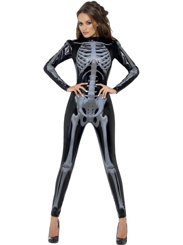 Fever Skeleton Skeletten Print Catsuit