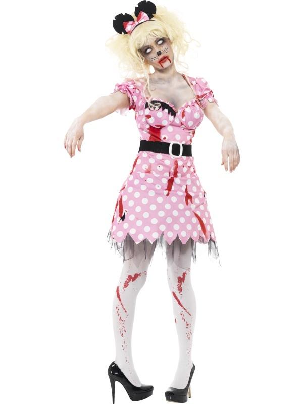 Zombie Minnie Mouse Horror Kostuum