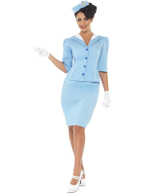Air Hostess Stewardess Dames Verkleedkostuum