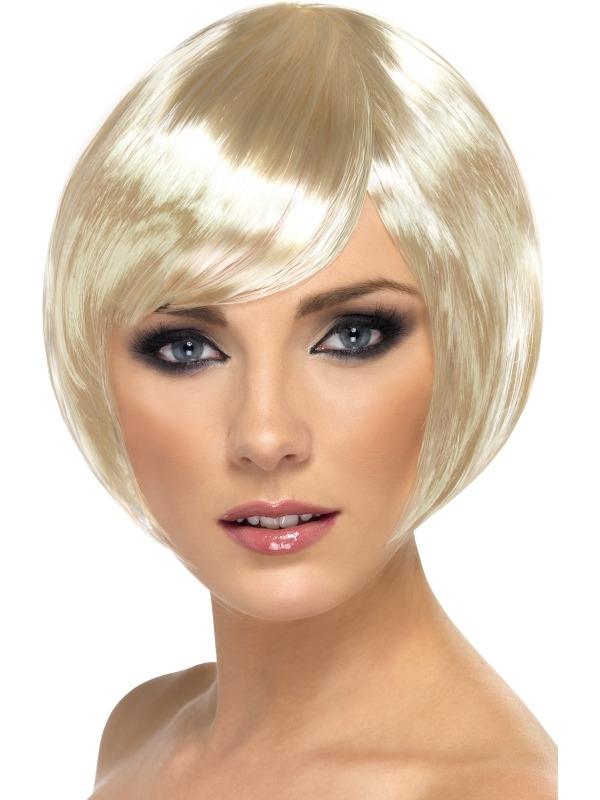 Blonde Korte Bob Babe Pruik