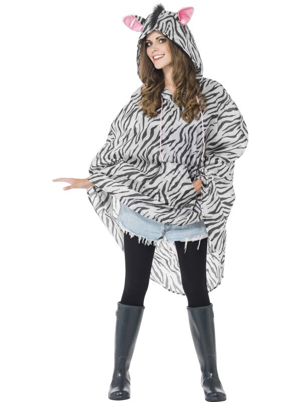 Festival Zebra Party Poncho