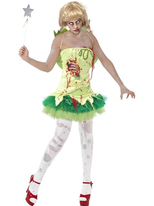 Zombie Fairy Horror Dames Verkleedkostuum