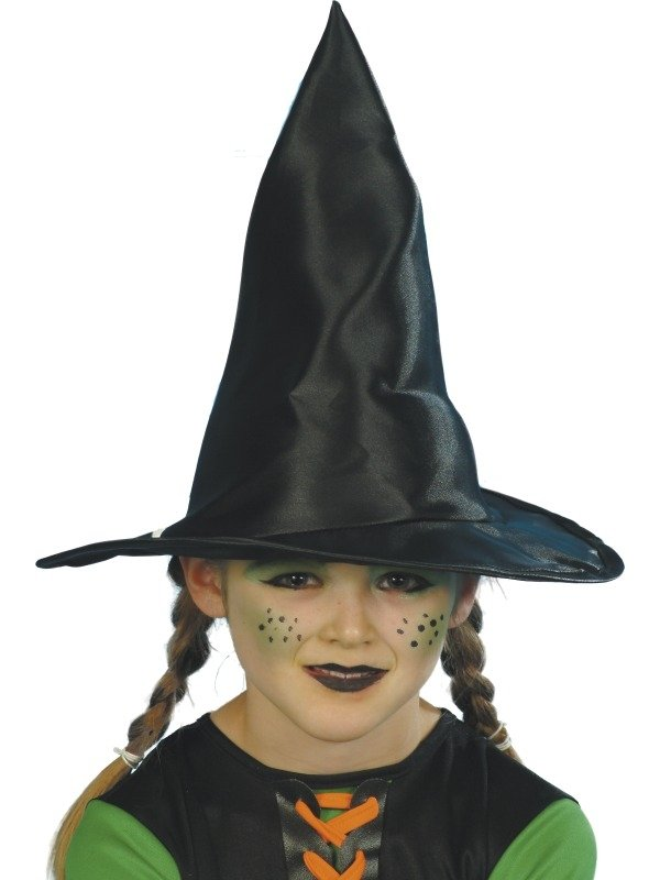 Zwarte Kinder Heksenhoed 30cm