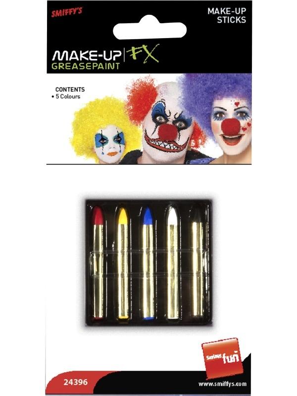 5 Kleuren Make-up Krijtjes Schmink
