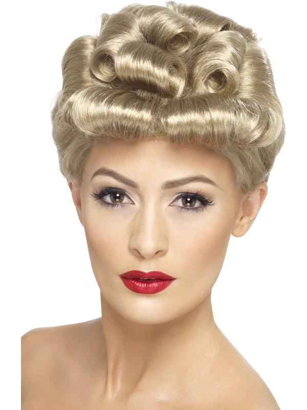 40's Vintage Blonde Pruik