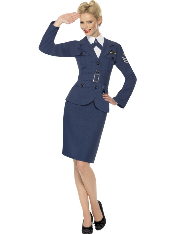 WW2 Air Force Kapitein Dames Kostuum