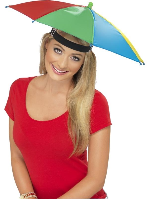 Gekleurde Paraplu Hoed