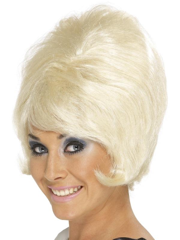 60's Beehive Pruik Blond
