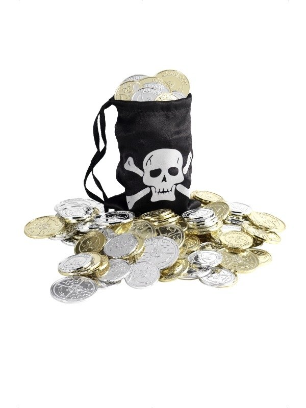 Piraten Geldzakje met Munten