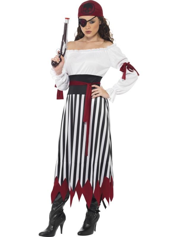 Piraten Dames Lang Verkleedkostuum