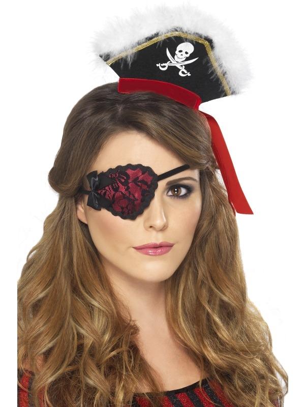 Rood met Zwart Piraten Ooglapje