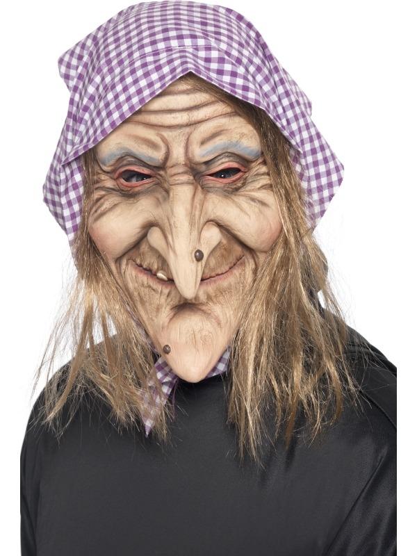 Oude Heks Halloween Masker